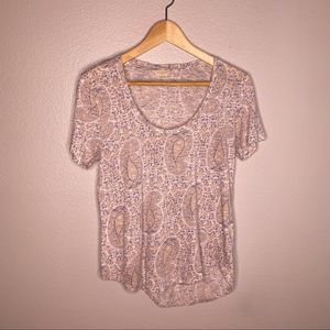 Lucky Brand All Over Print Tee Size Small